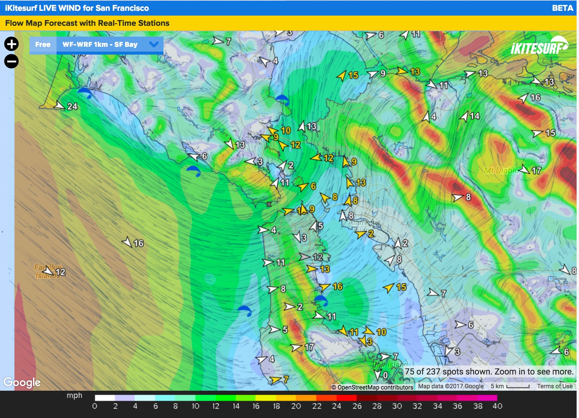 LIVE WIND, Wind List and Wind Map – WeatherFlow Support